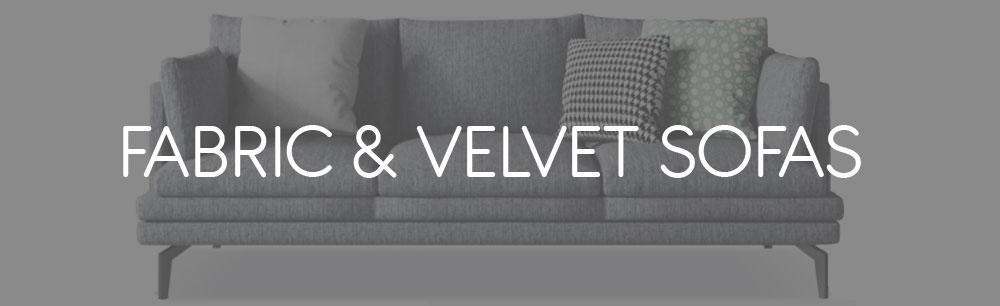 Fabric & Velvet Sofas