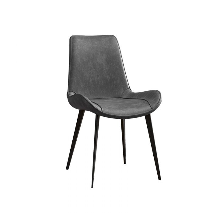 DIX Leather Dining Chair (Grey)