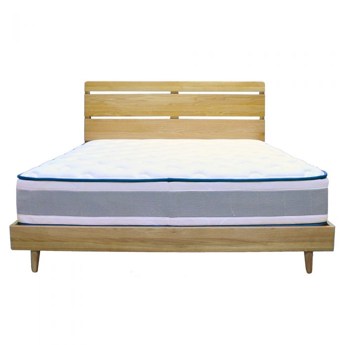 Yasu Nature Oak Minimalist Bed Frame