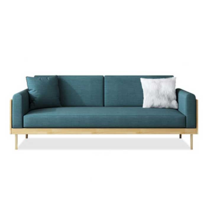 Malcom Scandi Luxe Solid Wood Frame Sofa (3 Seater)
