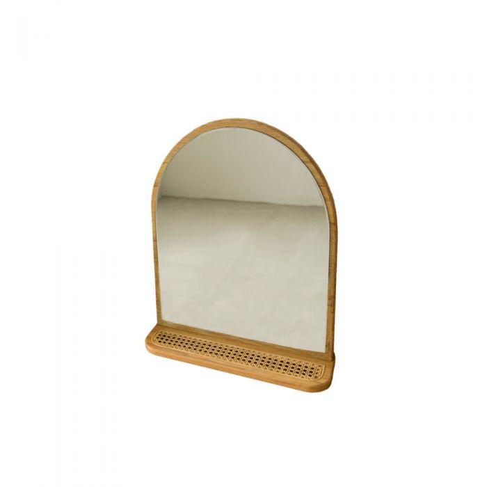 May Rattan Scandinavian Table Mirror