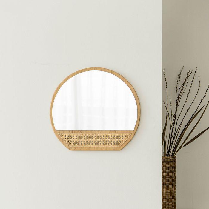 May Rattan Bohemian Wall Mirror Decor