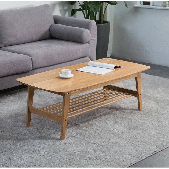Guri Oak Scandinavian Solid Wood Classic Coffee Table
