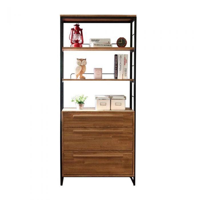 Tinwood Scandi Industrial Drawers Shelf Cabinet
