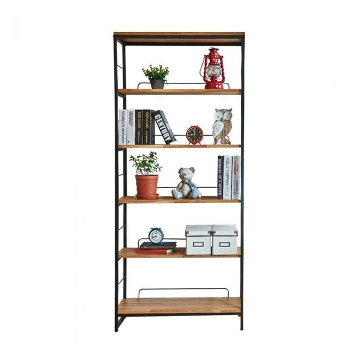 Tinwood Scandi Industrial Bookcase Display Shelf