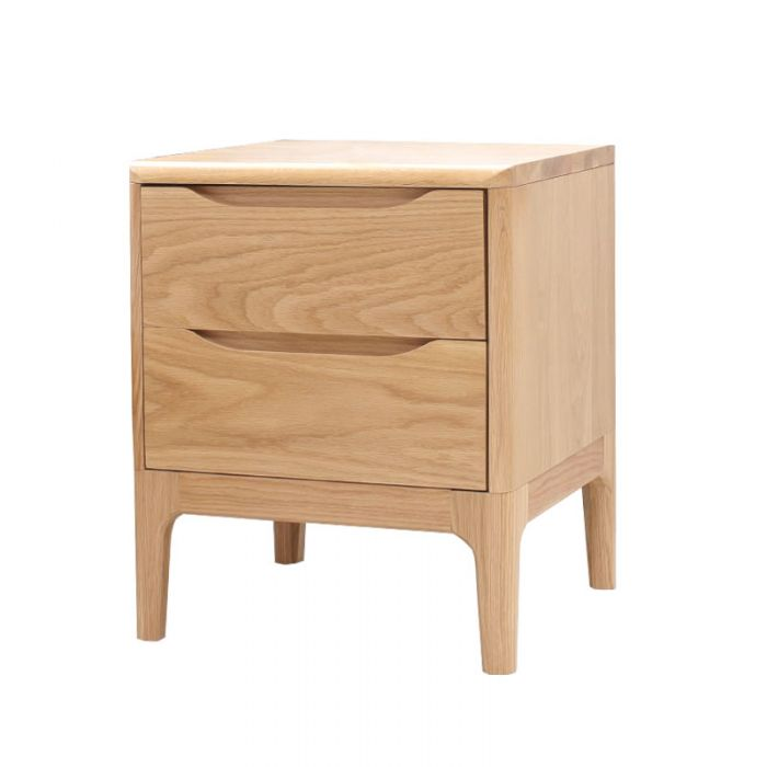 Yasu Nature Solid Oak Minimalist Bed Side Table