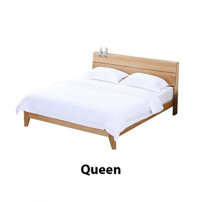 Yasu Nature Solid Oak Bed Frame (Queen) 1.9m
