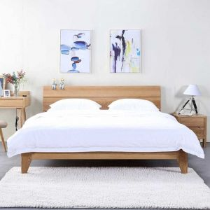 Yasu Nature Solid Oak Bed Frame
