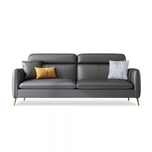 Allen High Back Faux Leather Sofa (3-Seater XL Luxury) (Clearance)