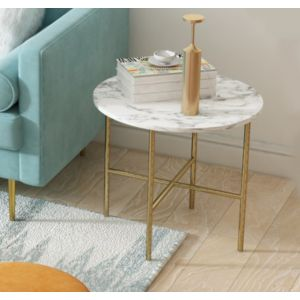 Bethany Marble Sofa Round Side Table