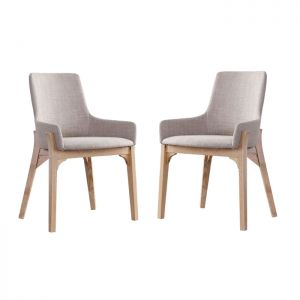 Danielle Scandinavian Fabric Dining Chair Bundle - Grey
