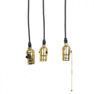 Edison Industrial Light Bulb Holder (E27) (1pcs Gold)