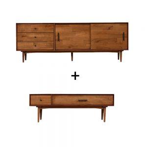Fika Swedish TV Cabinet (1600) and Fika Swedish Sofa Coffee Table Set
