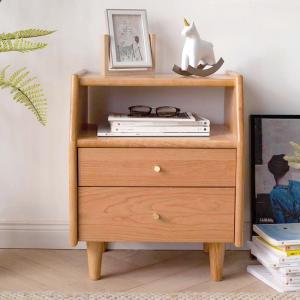 Guri Oak High Top Drawer Side Table