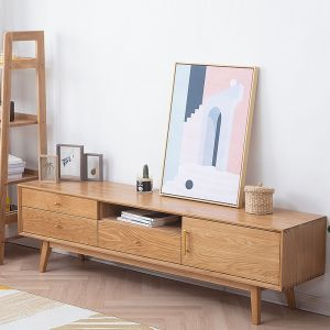Guri Oak Scandinavian Solid Wood TV Console