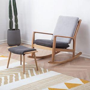 Guri Solid Wood & Fabric Rocking Chair