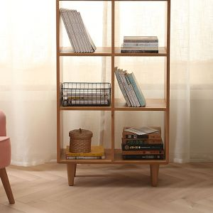 Guri Oak Scandinavian Tall Book Shelf (6 Box)