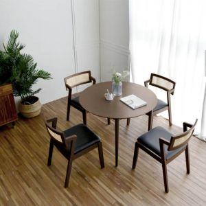 Latte Round Dining Set (Stone Ash)