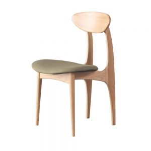 Devon Scandinavian Dining Chair (Fabric)