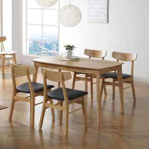 Mujis Japandi 4 Seater Dining Set 1200 (Table & 4 Chairs)