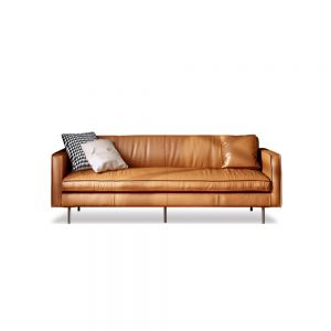 Reuben Leather Sofa (3 Seater Compact)