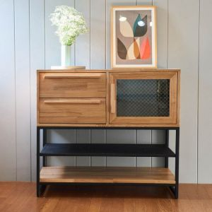 Tinwood Scandi Industrial Foyer Display Cabinet
