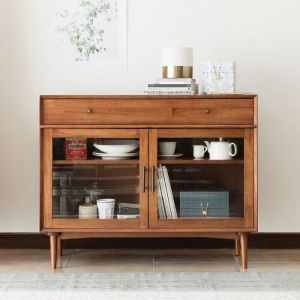 Fika Swedish Glass Cabinet (S) Sideboard
