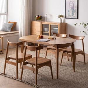 Guri Scandinavian Solid Wood Extendable Round Dining Table (1350)