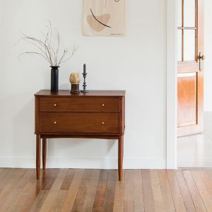 Verso Neo-Vintage Walnut Drawer Dressing Table