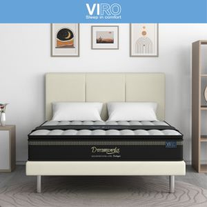 MAXCOIL VIRO Dream Workx 10'' Bonnell Spring Mattress with Bed Frame