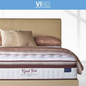 Maxcoil VIRO Great Rest 11'' Pocketed Spring Mattress with Bed Frame