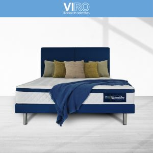Maxcoil VIRO Spinesation 8'' Bonnell Spring Mattress with Bed Frame