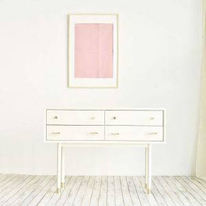 Woody White Contemporary Dressing Table
