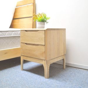 Yasu Nature Solid Oak Minimalist Bed Side Table
