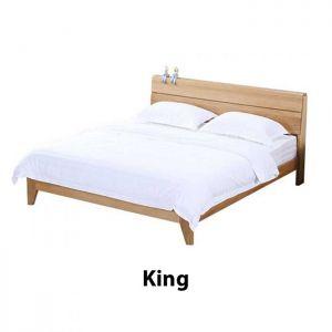 Yasu Nature Solid Oak Bed Frame (King) 1.9m