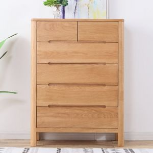 Yasu Nature Solid Oak Tall 6 Drawer Chest