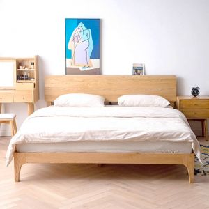 Yasu Nature Solid Oak Smart Bed Frame