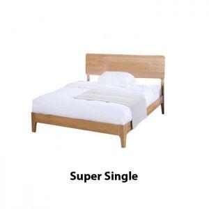 Yasu Solid Oak Smart Bed Frame (Super Single) 1.9m