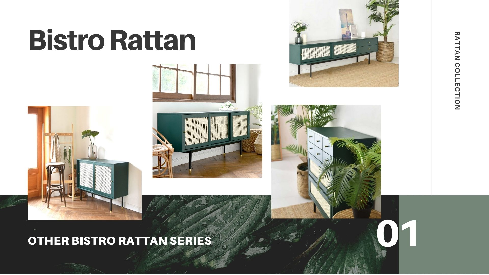 Bistro Series Collection Rattan Made