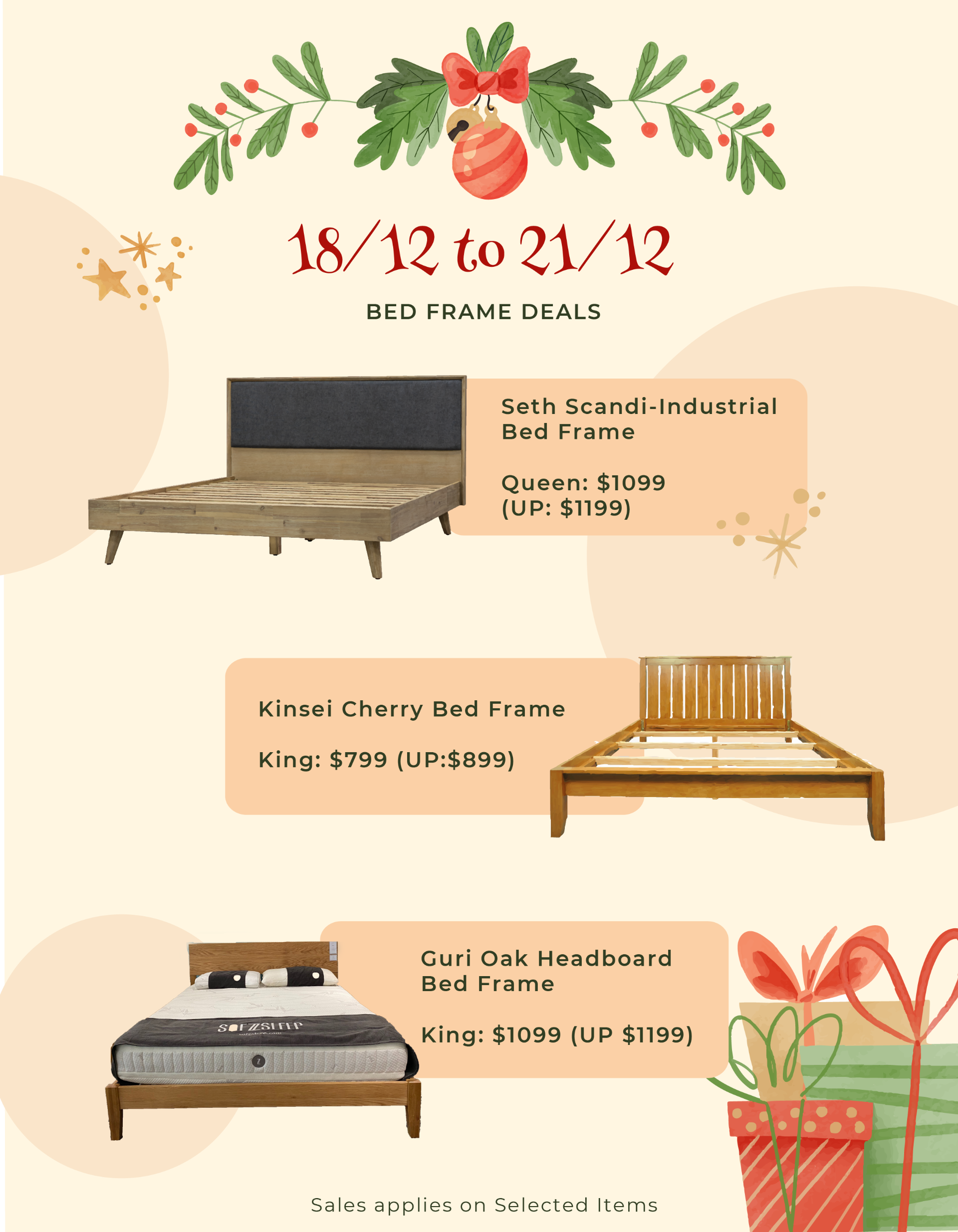 X'mas Bed Frame Sales