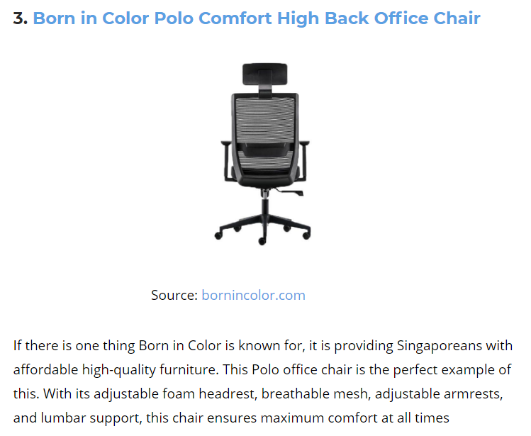 Born In Colour Offic Chair Feature In Best In Singapore 10 Best Office Chairs In Singapore