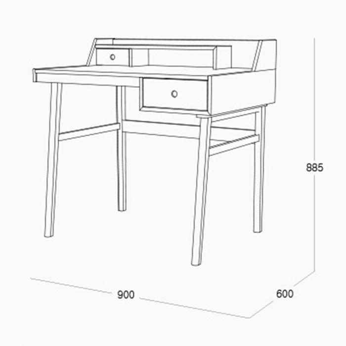 Continew Working Desk Measurements
