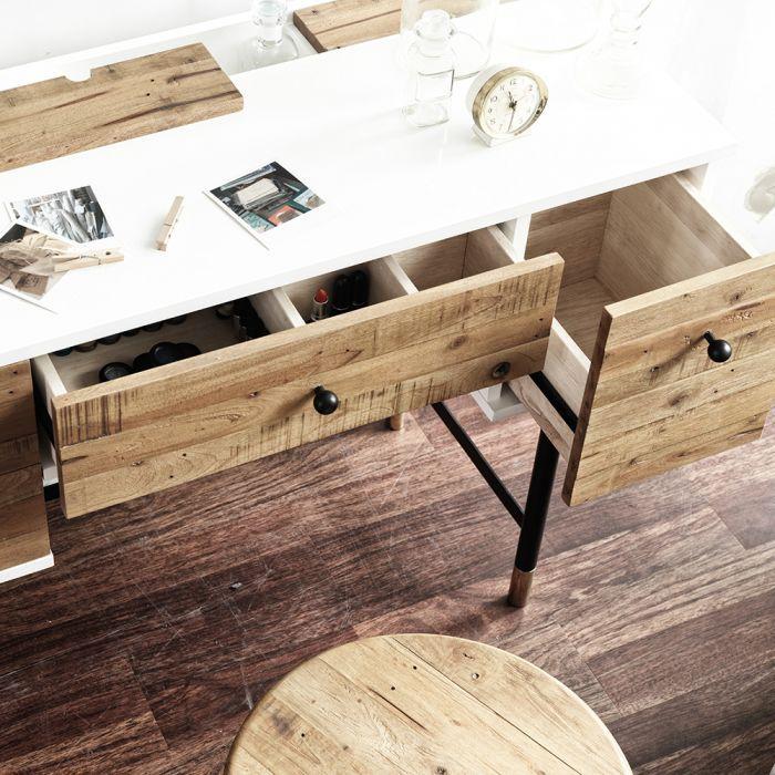 Londoner Kinfolk Industrial Desk (Vintage) Zoom In Drawers