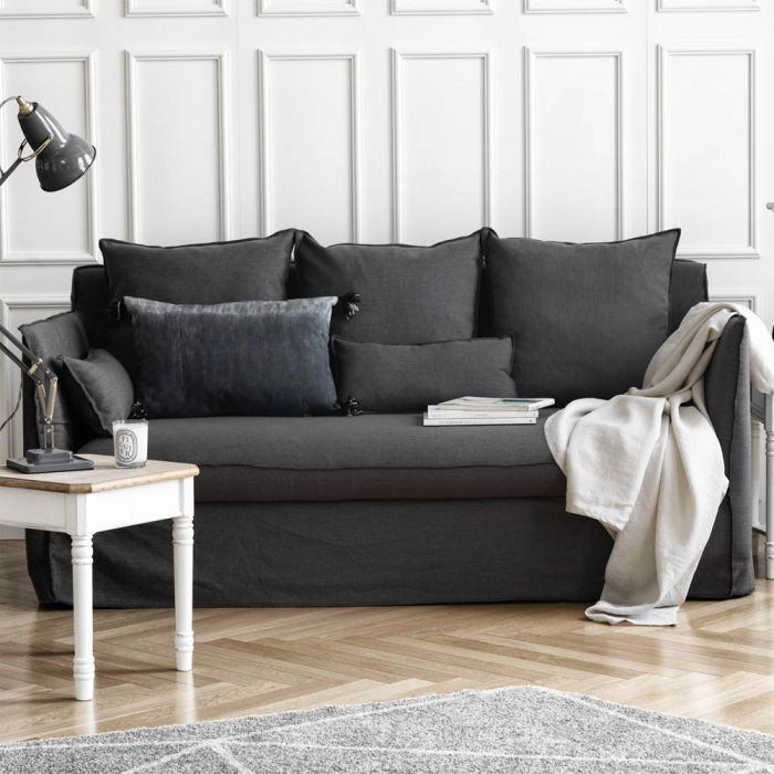 Parisienne French Classic 3-Seater Sofa (Grey)