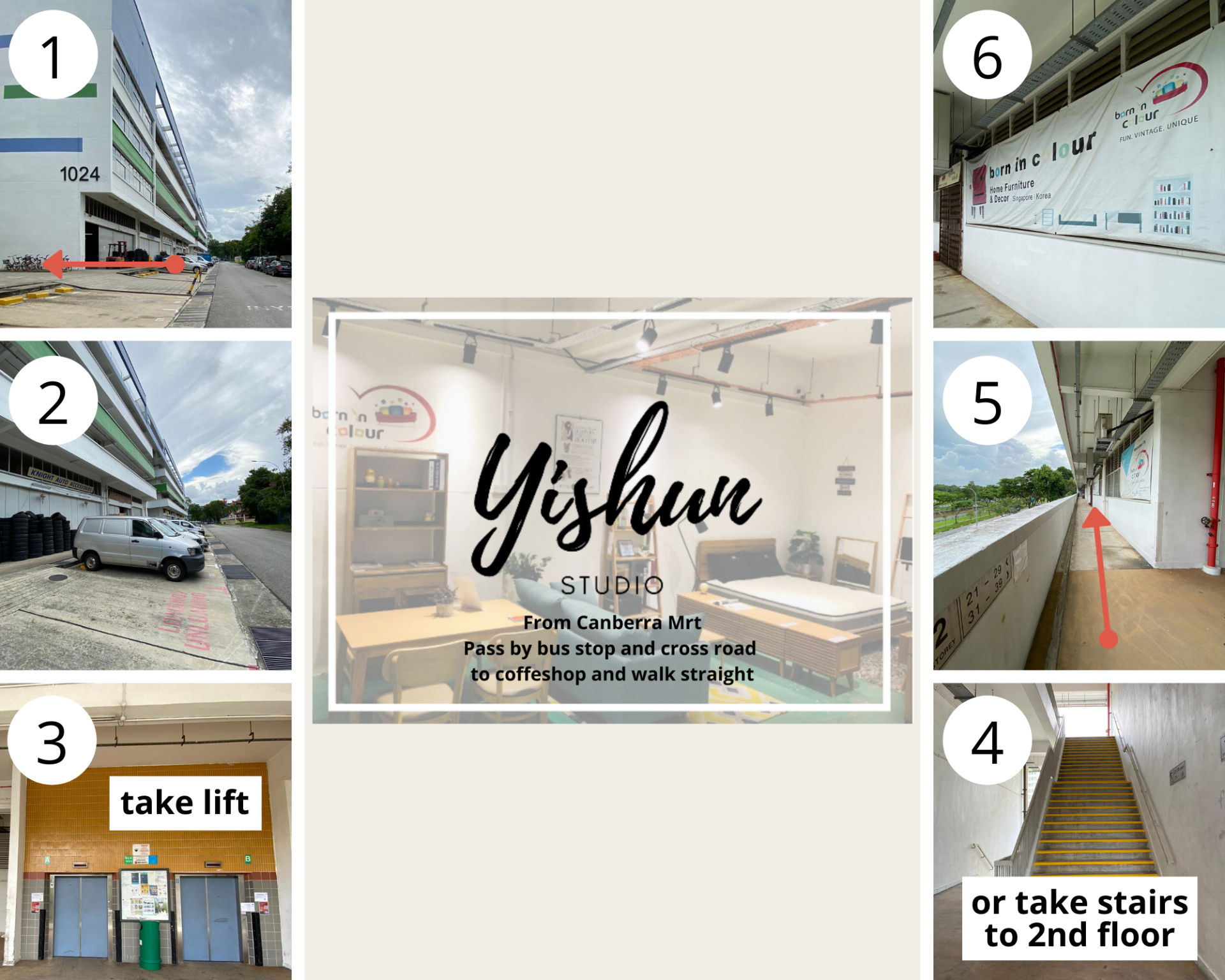 Born In Colour Yishun Directions