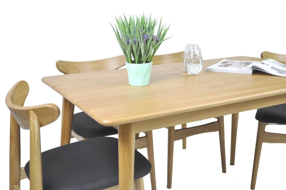 Guri_Oak_Pencil_Leg_Dining_Table_(1300)_Set_1_(Table & 4 Dalmar Chairs)_Online_Furniture_Singapore_Photo_1_by_born_in_colour