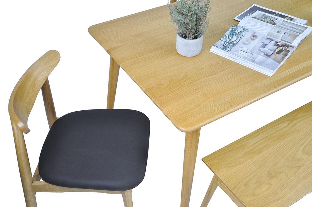 Guri_Oak_Pencil_Leg_Dining_Table_(1300)_Set_3_(Table, 2 Dalmar Chairs & Dagen Bench)_ Online_Furniture_Singapore_Photo_4_by_born_in_colour