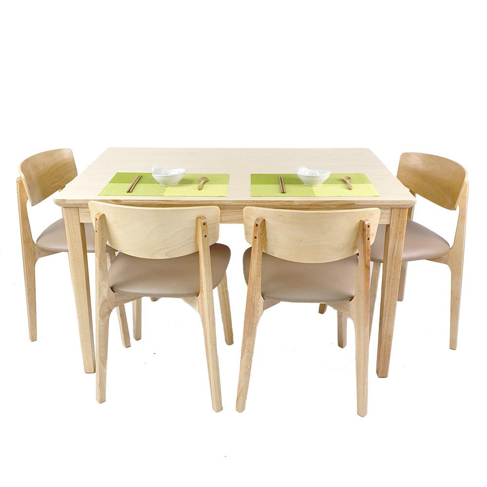 Shizen_Japandi_Natural_4_Seater_Dining_Set_B_w_4_chairs