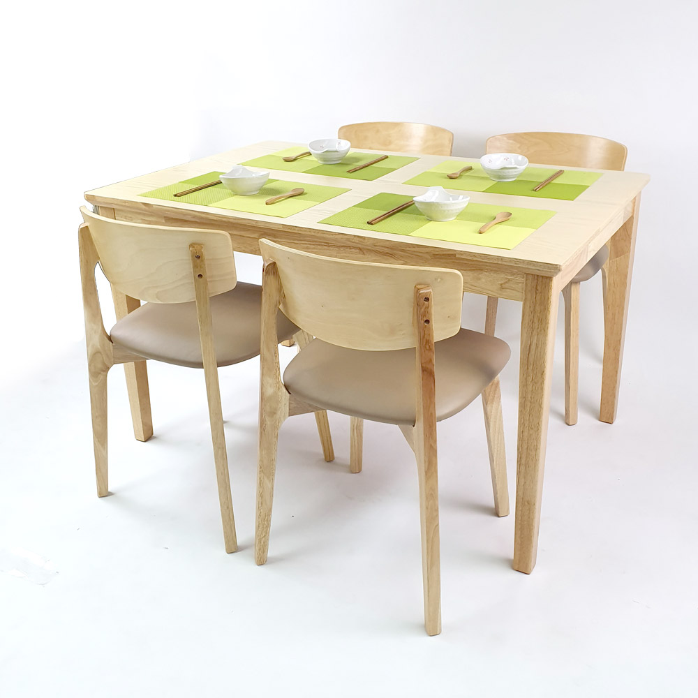 Shizen_Japandi_Natural_4_Seater_Dining_Set_B_w_4_chairs_side