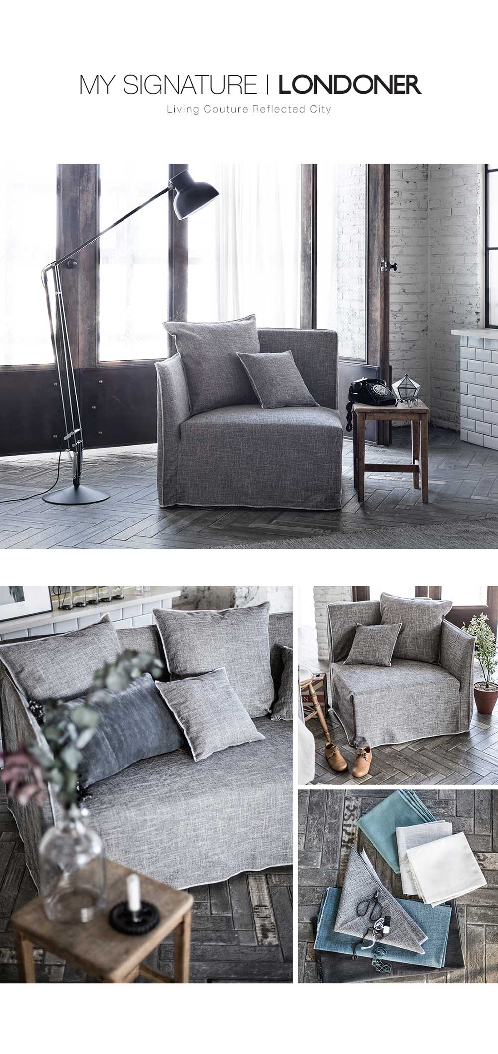 Londoner_Kinfolk_Industrial_Armchair_Sofa_(RIGHT)_(White Black)_Furniture_Online_Singapore_Scenery_1_by_born_in_colour